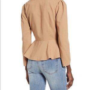 English Factory Tops - English Factory Bow Front Peplum Top M